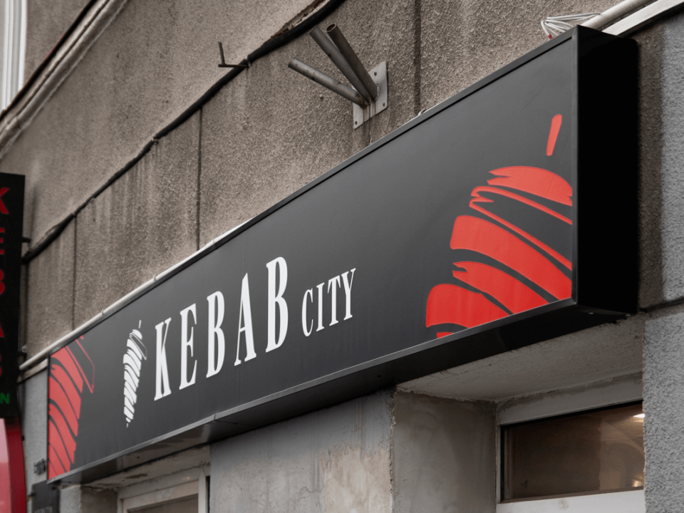 KEBAB CITY - Kaseton świetlny