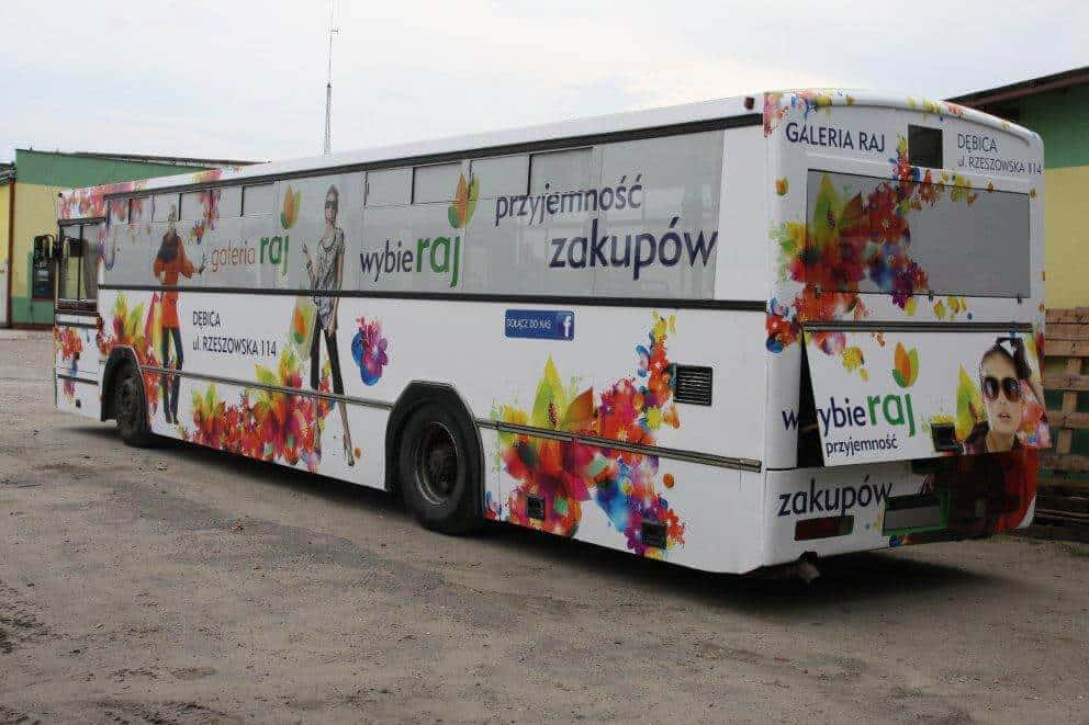 Oklejanie autobusu - Galeria RAJ