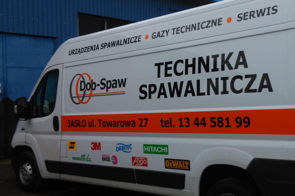 Oklejanie samochodu dostawczego - Dob-Spaw